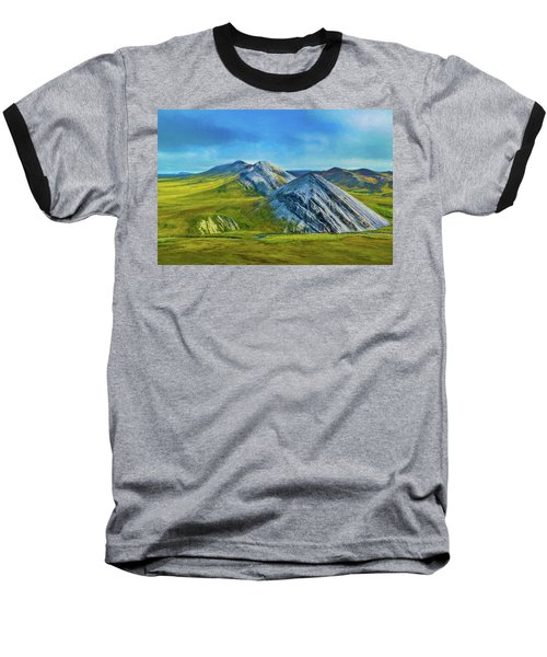 Mountain Landscape Digital Art Baseball T-Shirt