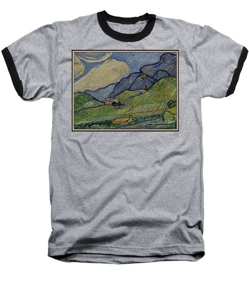 Mountain Landscape Baseball T-Shirt by Pemaro