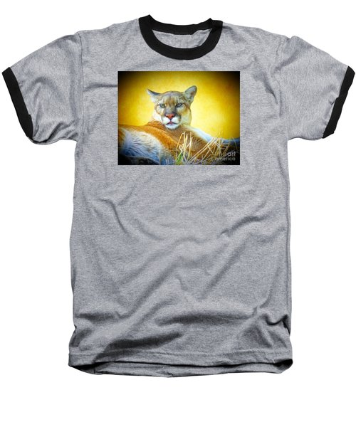Mountain Lion Two Baseball T-Shirt by Suzanne Handel