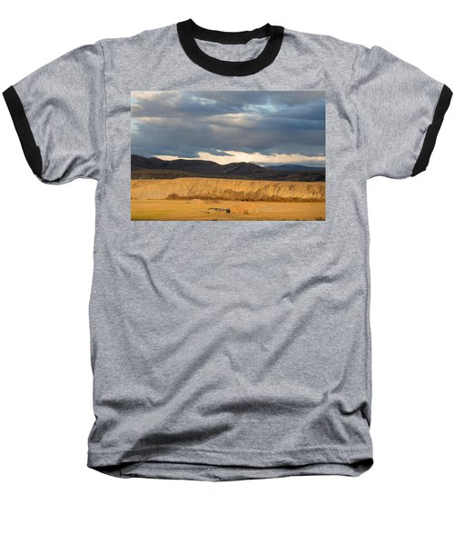 Mountain Meadow And Hay Bales In Grand County Baseball T-Shirt by Carol M Highsmith