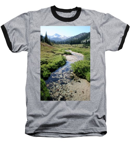 Mountain Meadow And Stream Baseball T-Shirt