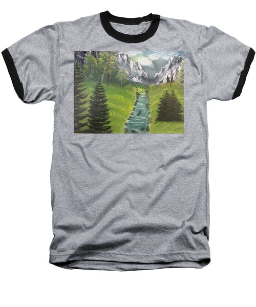 Mountain Meadow Baseball T-Shirt by Thomas Janos