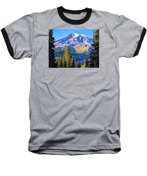 Baseball T-Shirt featuring the photograph Mountain Meets Sky by Anthony Baatz