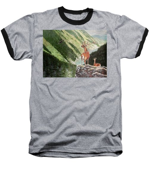Mountain Morning Baseball T-Shirt