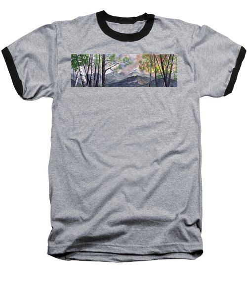 Mountain Morning Baseball T-Shirt by Terry Cork