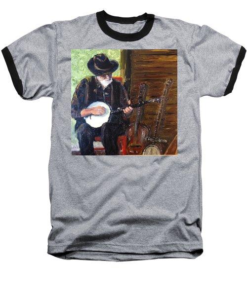 Mountain Music Baseball T-Shirt by T Fry-Green