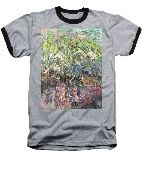 Mountain Of Many Colors Baseball T-Shirt by George Riney