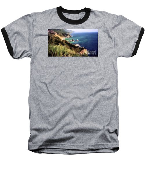 Mountain On Calif Pacific Ocean Baseball T-Shirt by Ted Pollard