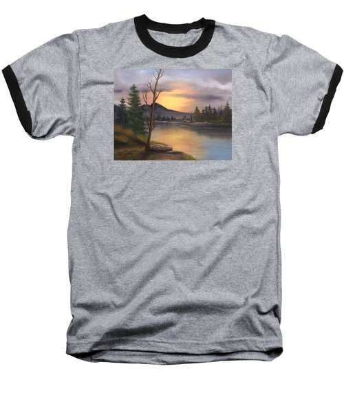 Mountain Paradise Baseball T-Shirt by Sheri Keith