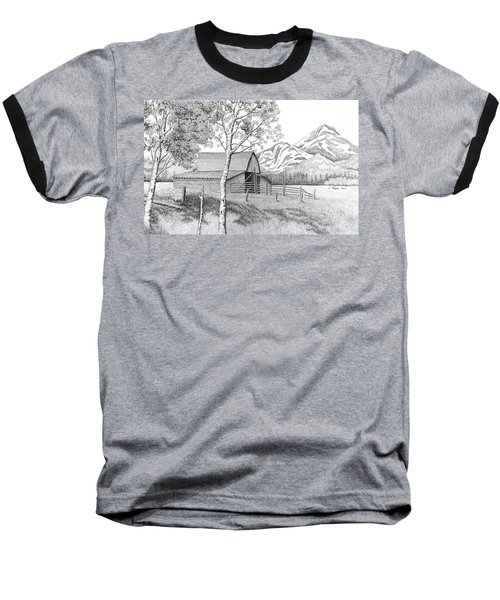 Mountain Pastoral Baseball T-Shirt