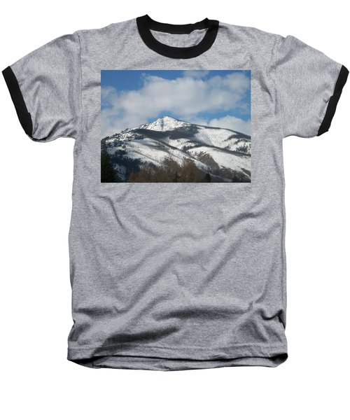 Mountain Peak Baseball T-Shirt by Jewel Hengen