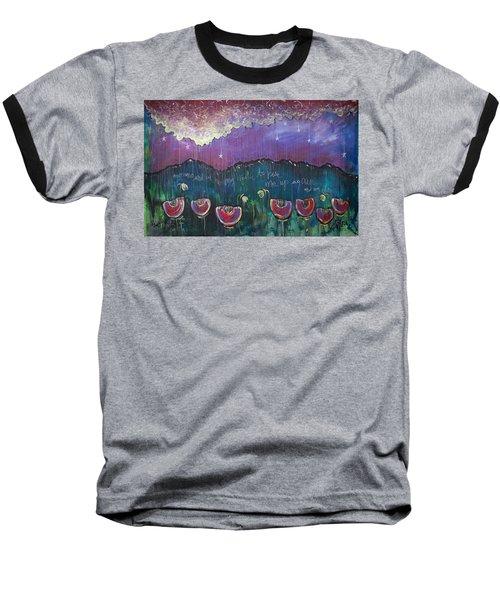 Mountain Poppies Baseball T-Shirt