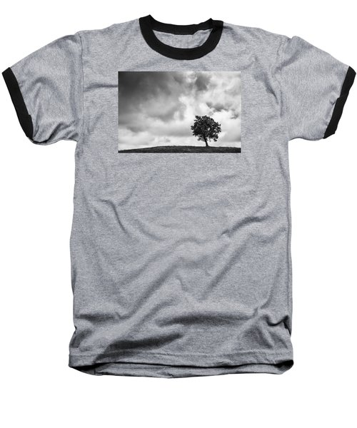 Tree On Hill - Doughton Park Blue Ridge Parkway Baseball T-Shirt