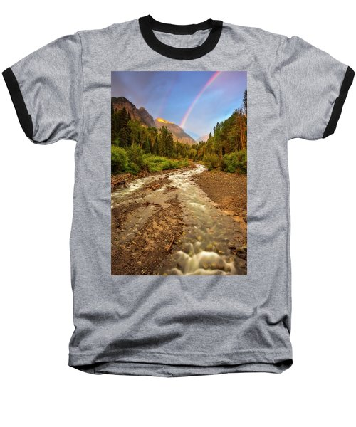 Mountain Rainbow Baseball T-Shirt