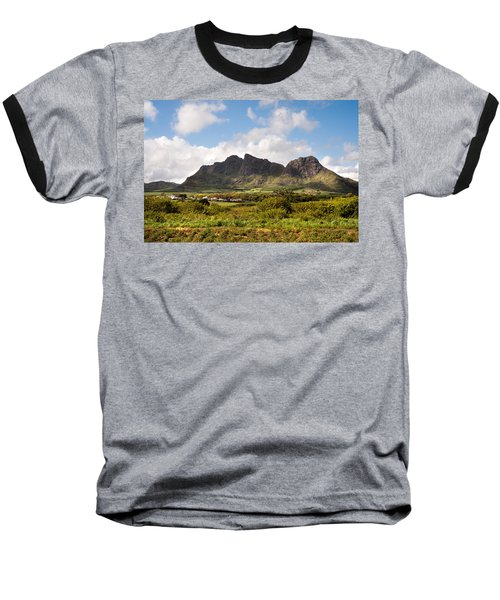 Baseball T-Shirt featuring the photograph Mountain Range In Mauritius by Jenny Rainbow