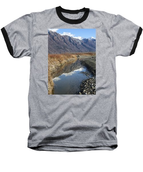 Mountain Reflections In Fall Baseball T-Shirt by Michele Cornelius