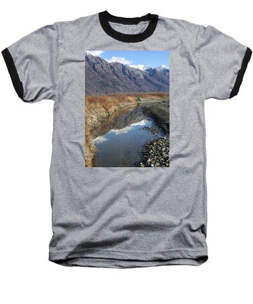 Mountain Reflections In Fall Baseball T-Shirt