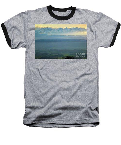 Mountain Scenery 18 Baseball T-Shirt by Jean Bernard Roussilhe