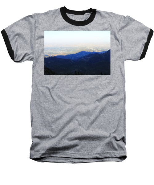 Mountain Shadow Baseball T-Shirt by Christin Brodie