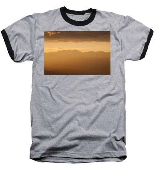 Mountain Shadows Baseball T-Shirt by Colleen Coccia