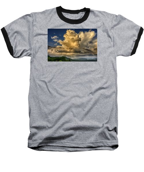 Mountain Shower And Storm Clouds Baseball T-Shirt