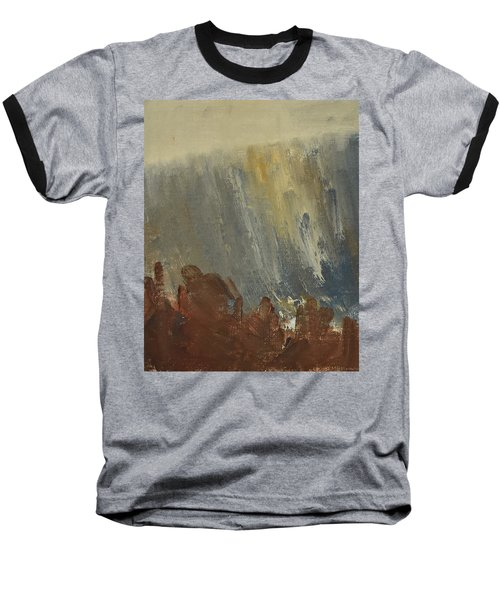 Mountain Side In Autumn Mist. Up To 90x120 Cm Baseball T-Shirt