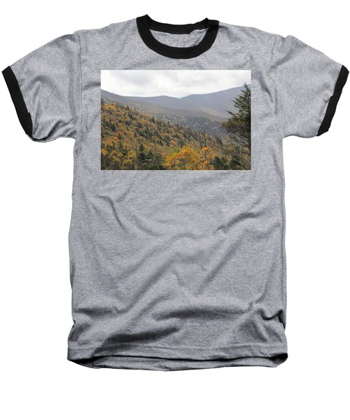 Mountain Side Long View Baseball T-Shirt
