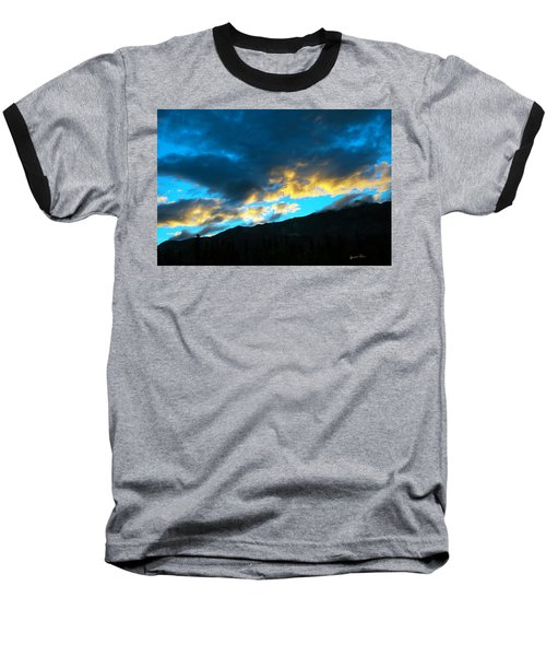 Baseball T-Shirt featuring the photograph Mountain Silhouette by Madeline Ellis
