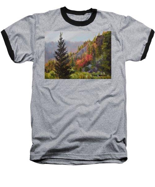 Mountain Slope Fall Baseball T-Shirt