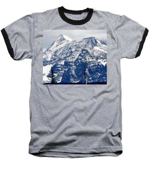 Mountain Snow Baseball T-Shirt