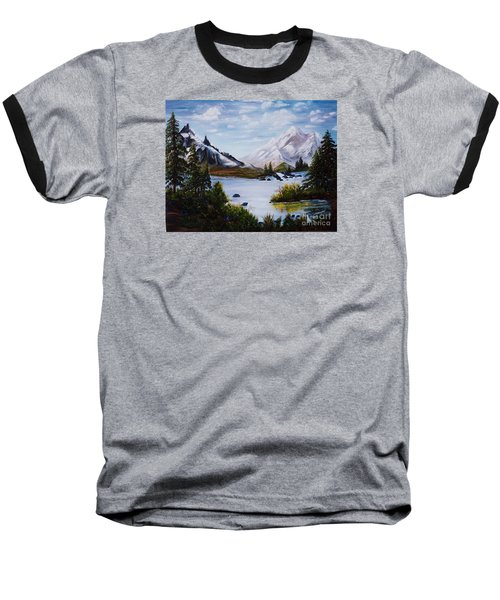 Baseball T-Shirt featuring the painting Mountain Splendor by Myrna Walsh