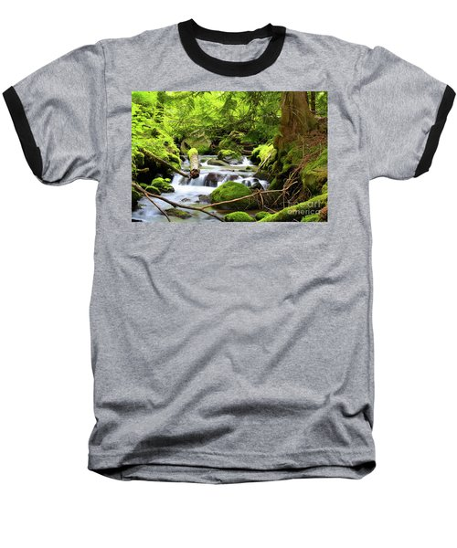 Mountain Stream In The Pacific Northwest Baseball T-Shirt