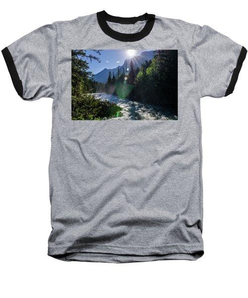 Mountain Sunburst Baseball T-Shirt