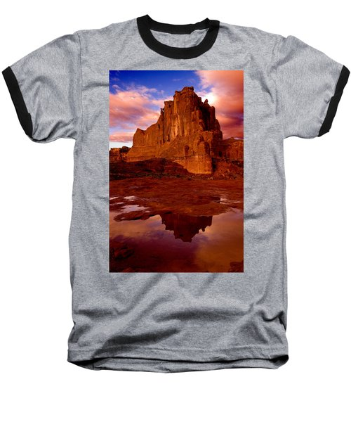 Baseball T-Shirt featuring the photograph Mountain Sunrise Reflection by Harry Spitz