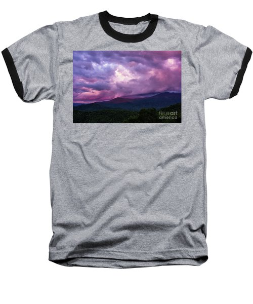 Mountain Sunset In The East Baseball T-Shirt