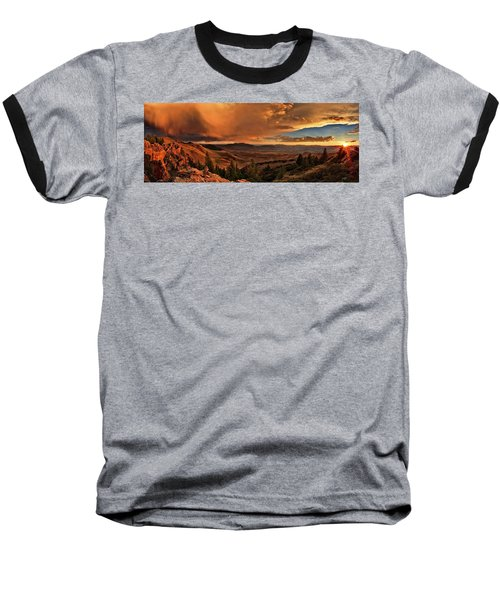 Mountain Sunset Baseball T-Shirt
