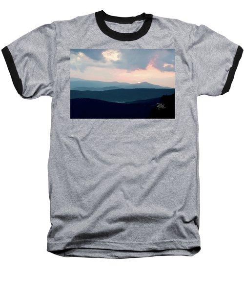 Baseball T-Shirt featuring the photograph Blue Ridge Mountain Sunset by Meta Gatschenberger