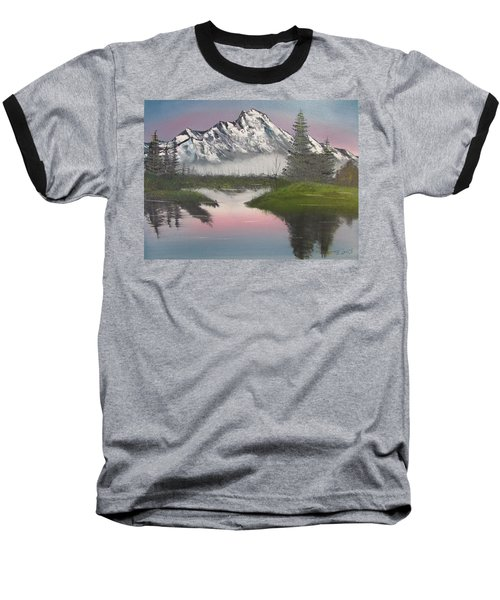 Mountain Sunset Baseball T-Shirt