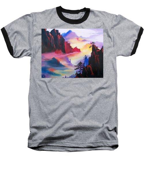 Mountain Top Sunrise Baseball T-Shirt