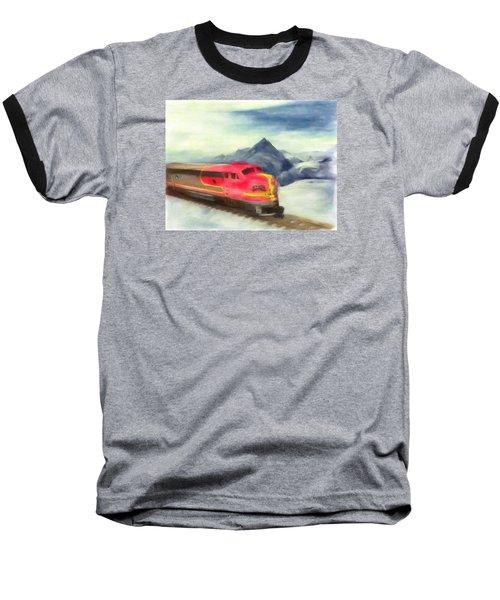 Mountain Train Baseball T-Shirt