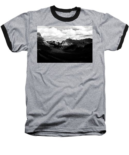 Mountain Valley Landscape Baseball T-Shirt