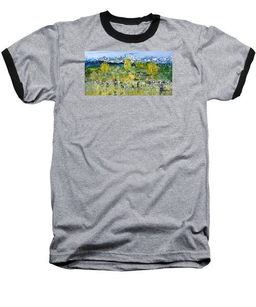 Mountain View Baseball T-Shirt by Evelina Popilian