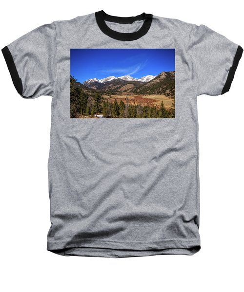 Mountain View From Fall River Road In Rocky Mountain National Pa Baseball T-Shirt