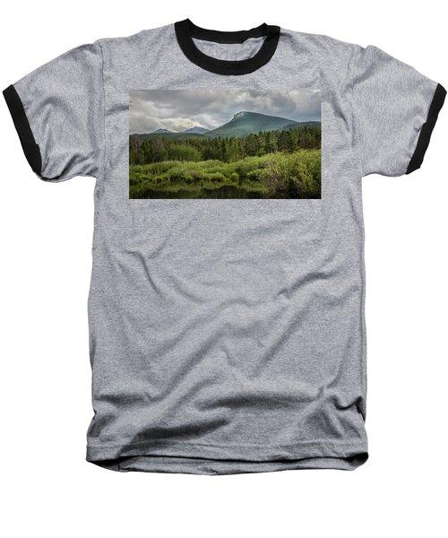 Mountain View From The Marsh Baseball T-Shirt