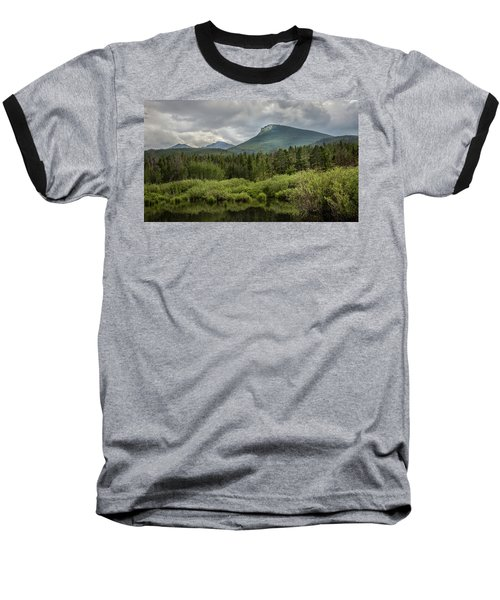 Mountain View From The Marsh Baseball T-Shirt