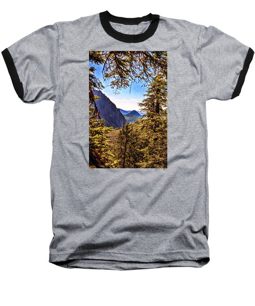 Baseball T-Shirt featuring the photograph Mountain Views by Anthony Baatz
