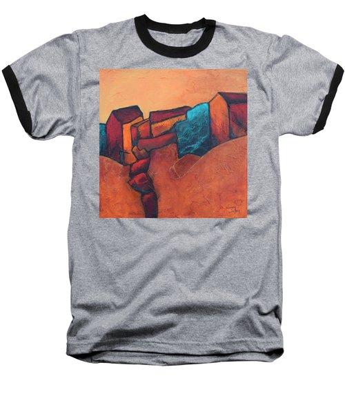 Mountain Village Baseball T-Shirt by Nancy Jolley