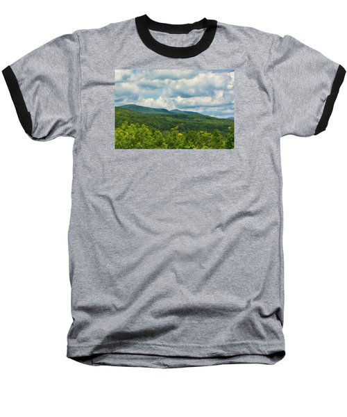 Baseball T-Shirt featuring the photograph Mountain Vista In Summer by Nancy De Flon