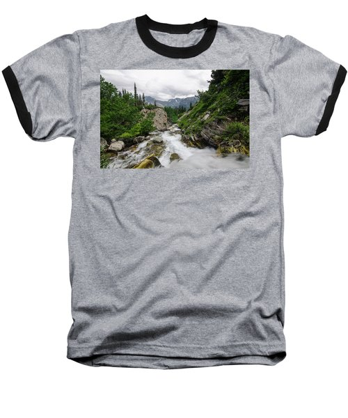 Baseball T-Shirt featuring the photograph Mountain Vista by Margaret Pitcher