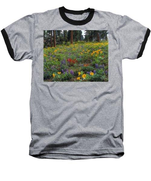 Mountain Wildflowers Baseball T-Shirt